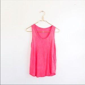 J.CREW pink linen racerback small tank c5565 shirt